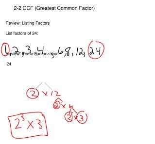 2-2 GCF (Greatest Common Factor)