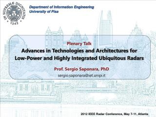 Plenary Talk Advances in Technologies and Architectures for