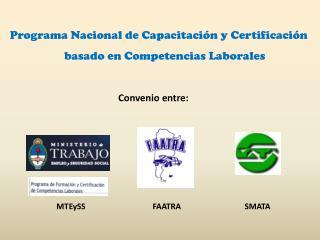Programa Nacional de Capacitación y Certificación basado en Competencias Laborales