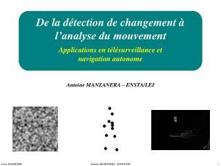 De la détection de changement à l'analyse du mouvement