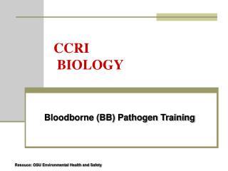 CCRI  BIOLOGY