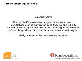 Problem Solved! Expansion Joints