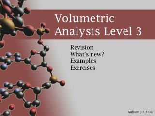 Volumetric Analysis Level 3