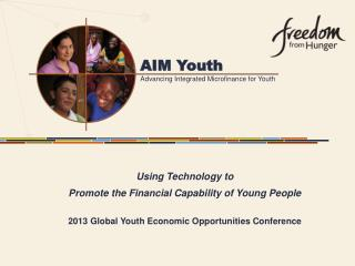 Using  Technology to  Promote the Financial Capability of Young People