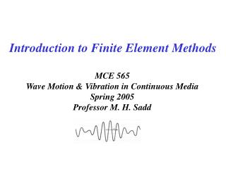 Introduction to Finite Element Methods