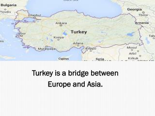 Turkey  is a  bridge between Europe and Asia .