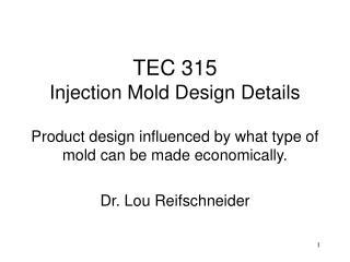 Dr. Lou Reifschneider