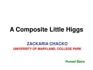 A Composite Little Higgs