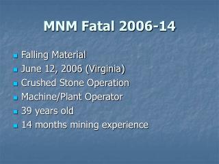MNM Fatal 2006-14