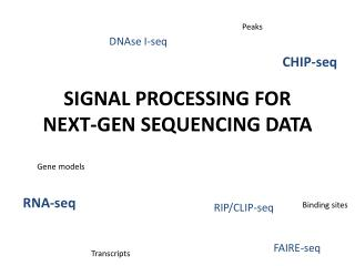SIGNAL PROCESSING FOR NEXT-GEN SEQUENCING DATA