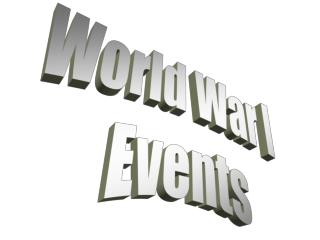 World War I  Events