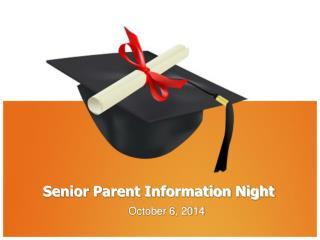 Senior Parent Information Night