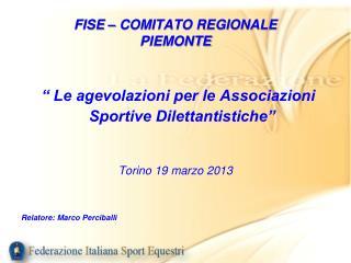 FISE � COMITATO REGIONALE  PIEMONTE