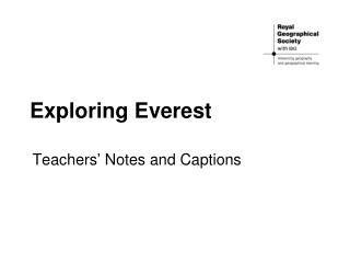 Exploring Everest