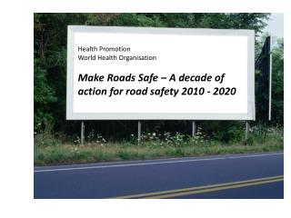 Health Promotion World Health Organisation