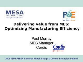 Delivering value from MES:  Optimizing Manufacturing Efficiency