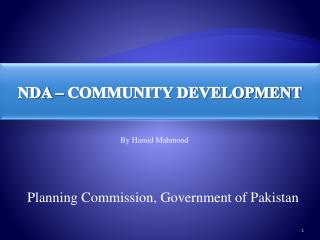 NDA – COMMUNITY DEVELOPMENT