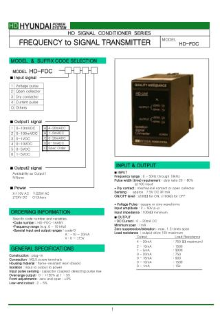 HD  SIGNAL  CONDITIONER  SERIES