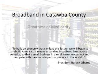 Broadband in Catawba County