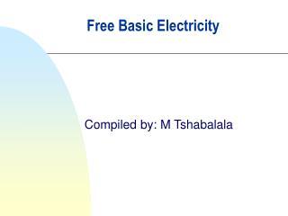 Free Basic Electricity