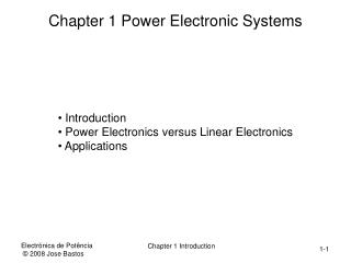 Chapter 1 Power Electronic Systems