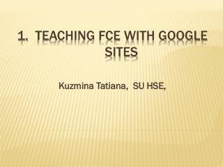 Teaching FCE with Google sites
