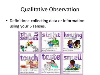 PPT - Definition of Observation Research PowerPoint ... Qualitative Data Definition