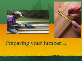 Preparing your lumber…
