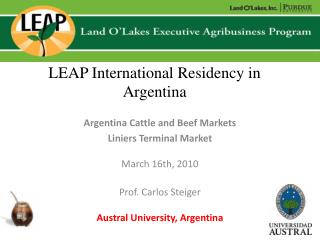 LEAP International Residency in Argentina