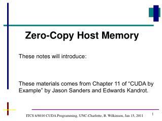 ITCS 6/8010 CUDA Programming, UNC-Charlotte, B. Wilkinson, Jan  15,  2011