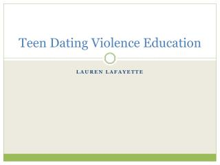Teen Dating Violence Education