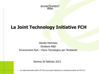La Joint Technology Initiative FCH