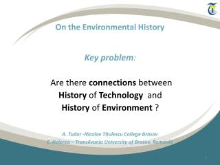 On the Environmental History