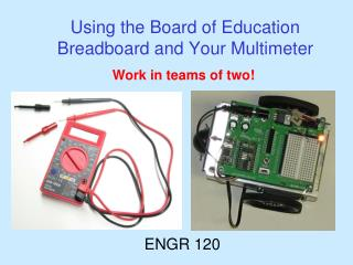 Using the Board of Education Breadboard and Your Multimeter