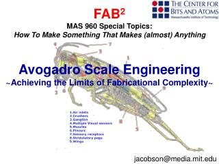 FAB 2 MAS 960 Special Topics: How To Make Something That Makes (almost) Anything