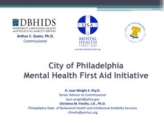 City of Philadelphia  Mental Health First Aid Initiative