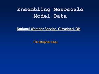 Ensembling Mesoscale Model Data
