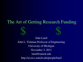 The Art of Getting Research Funding
