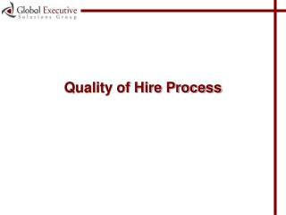 Quality of Hire Process