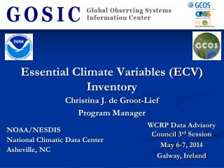 Essential Climate Variables (ECV) Inventory