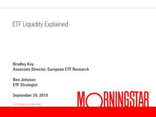 ETF Liquidity Explained