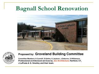 Bagnall School Renovation
