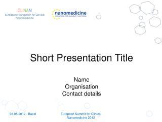 Short Presentation Title