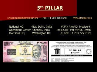 5 th PILLAR  ENDcorruption@5thpillar       Fax : +1 202 318  8948         5thpillar