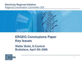ERGEG Conclusions Paper Key Issues