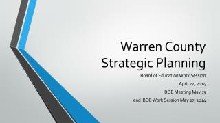 Warren County  Strategic Planning