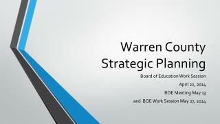 Warren County  Strategic Planning