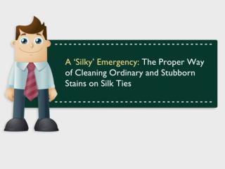 A 'Silky' Emergency: The Proper Way of Cleaning Ordinary and