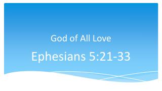 God of All Love