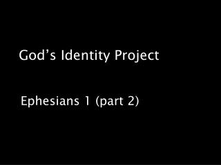 God's Identity Project